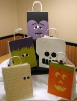 Halloween Trick or Treat Bag Fronts