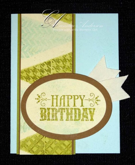Masked Pendent Birthday Card