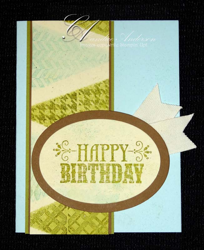 Masked Pendent Birthday Card