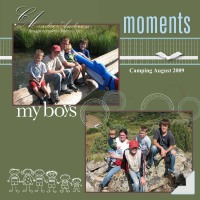 My Boys Camping Pg 2009