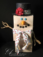 Cookie Box Snowman