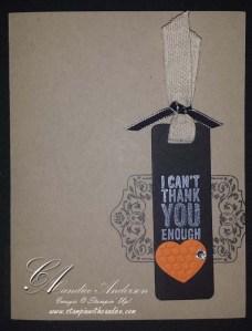 Thank Heart Tag Card