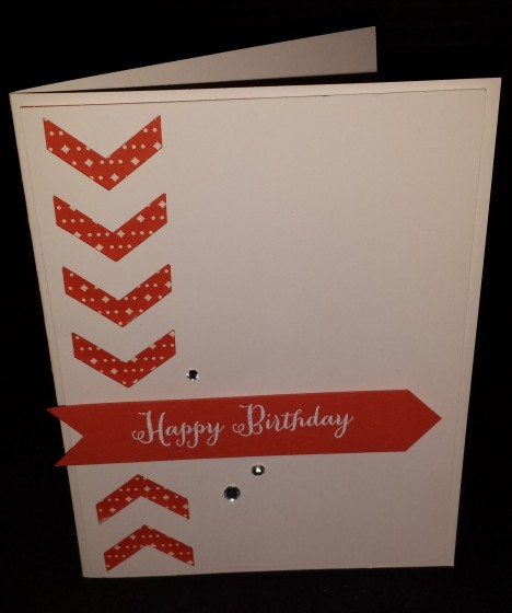 Happy Birthday Chevron Card