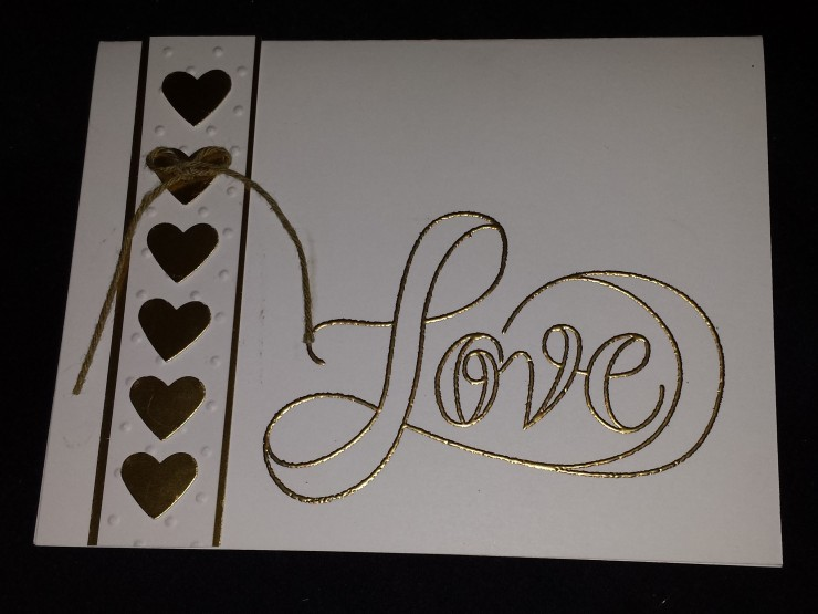 Gold Love Card