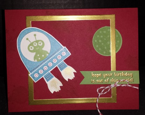 Out of world Birthday Card