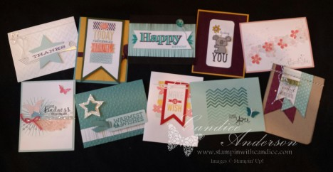 August 2014 Stampin' Buffet Cards