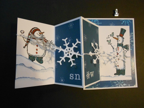 Let is Snow card- Opened