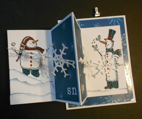 Let it Snow Card- Partial open