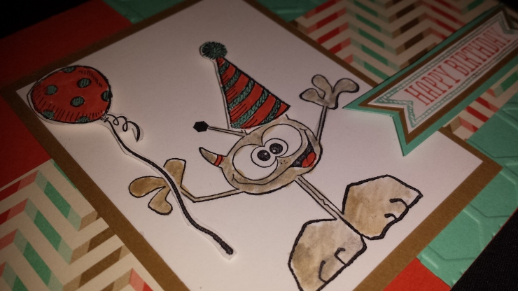 Monster Birthday Card- Close