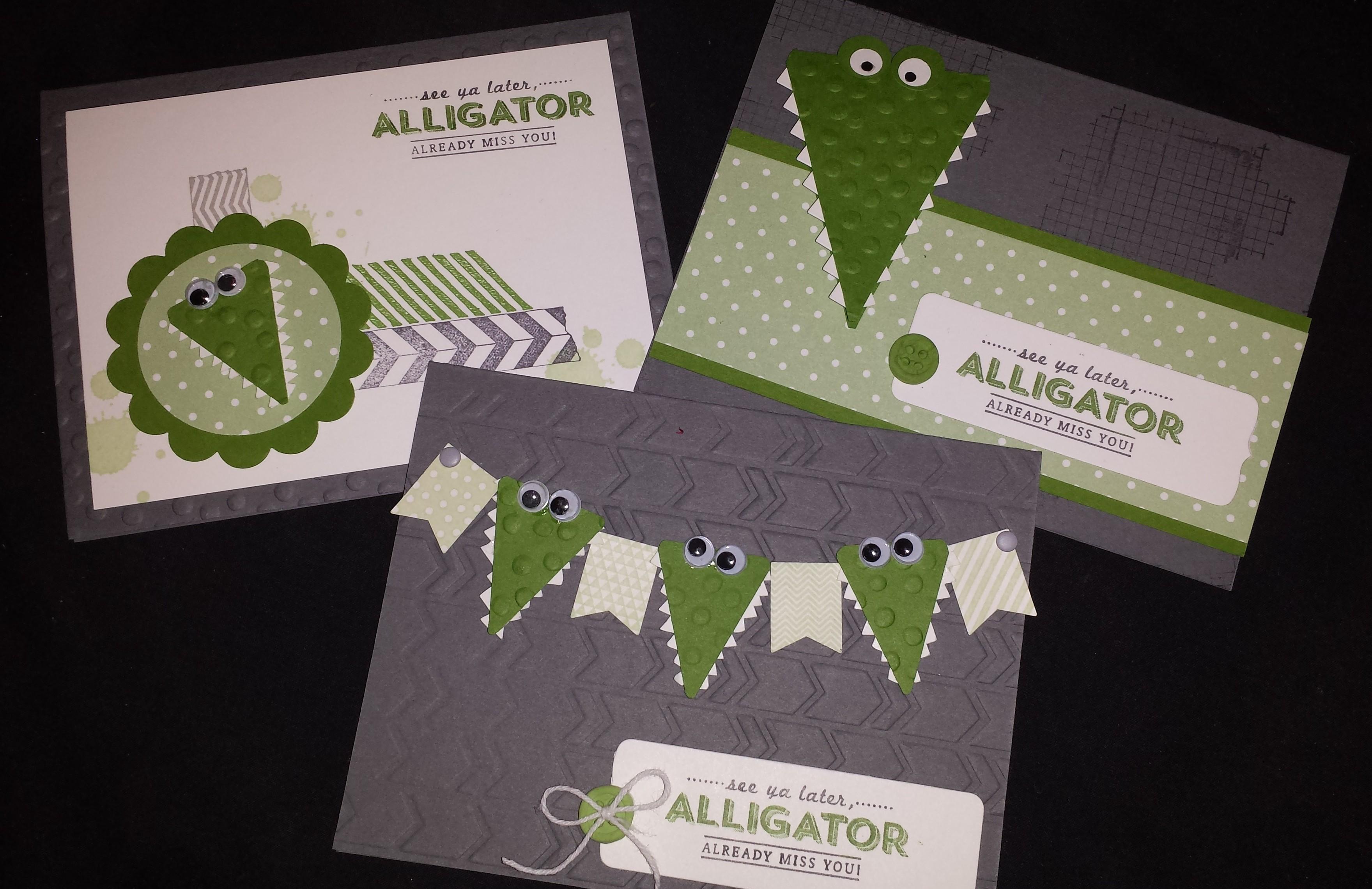 Alligator Trio Cards