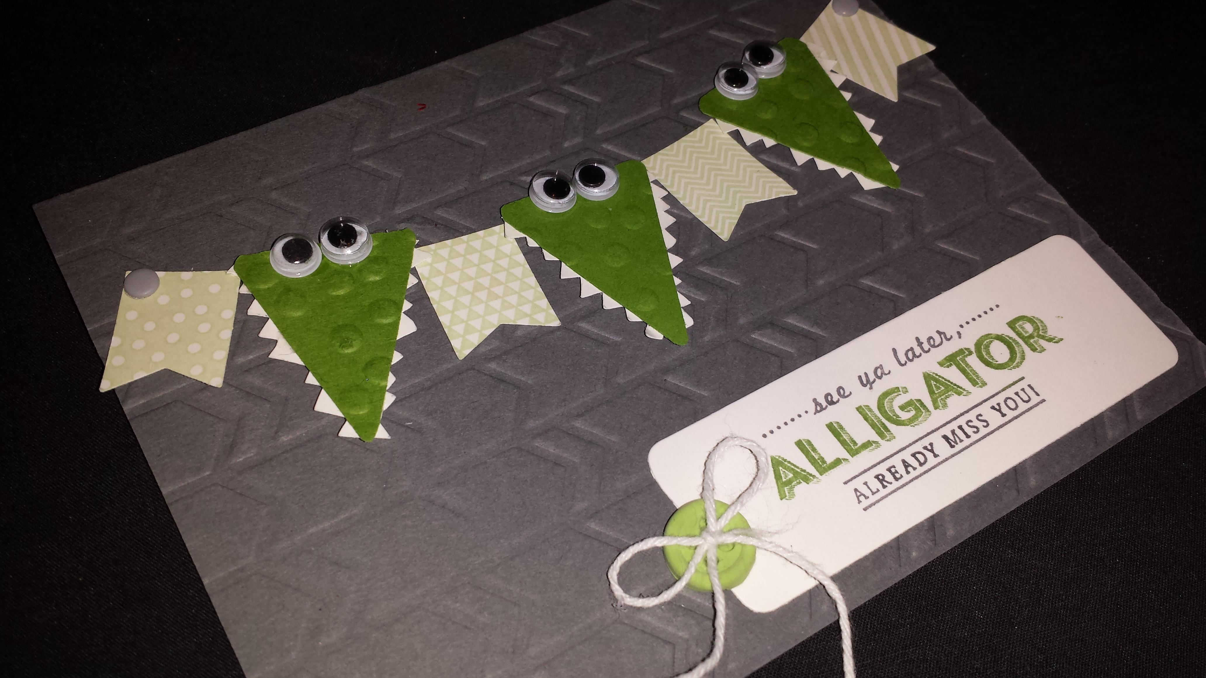 Alligator Banner Card