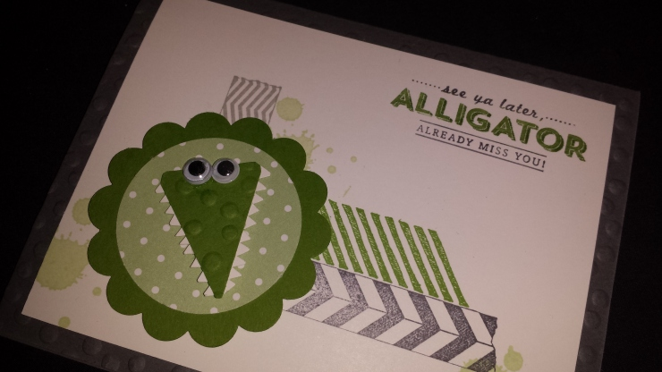 Small Alligator Card