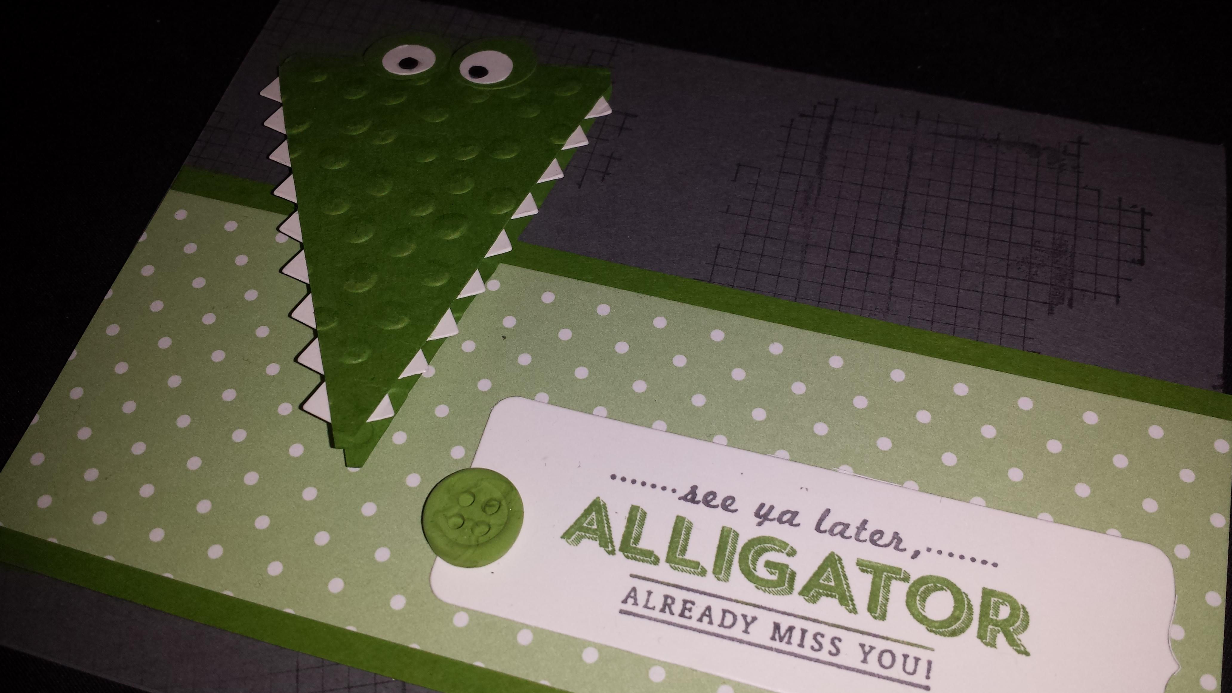 Large Alligator Card