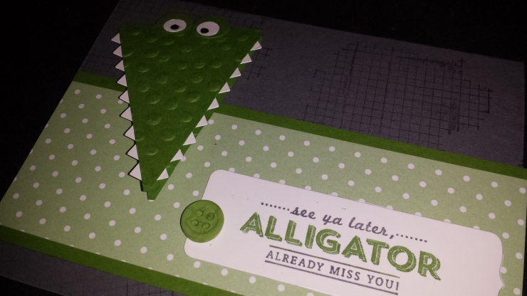 Large Alligator Card