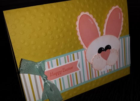 Easter Bunny Punch Art Card