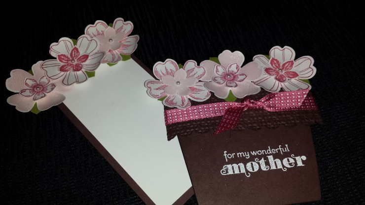 Mother's Day Flower Card with tag out