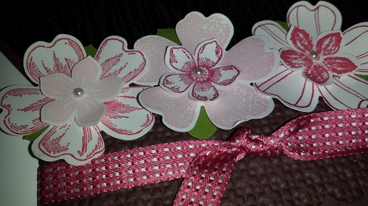 Mother's Day Flower Card Close Up