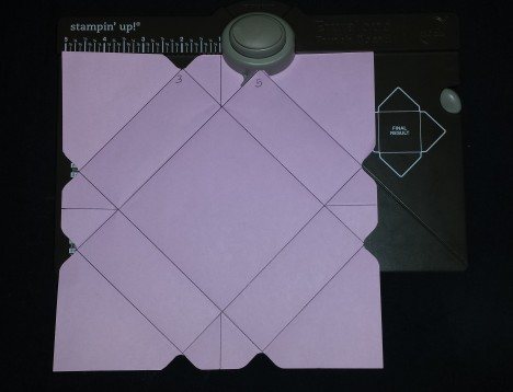 Envelope Punchboard Box instructions
