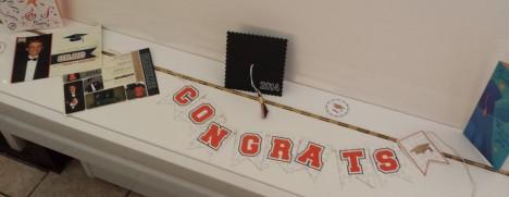 Graduation decorations close up