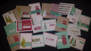 Water Color Winter Cards