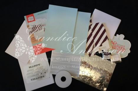 Contents of July 2014 Paper Pumpkin Kit