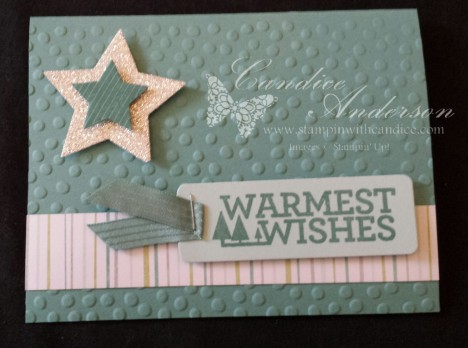 Warmest Wishes Star Card