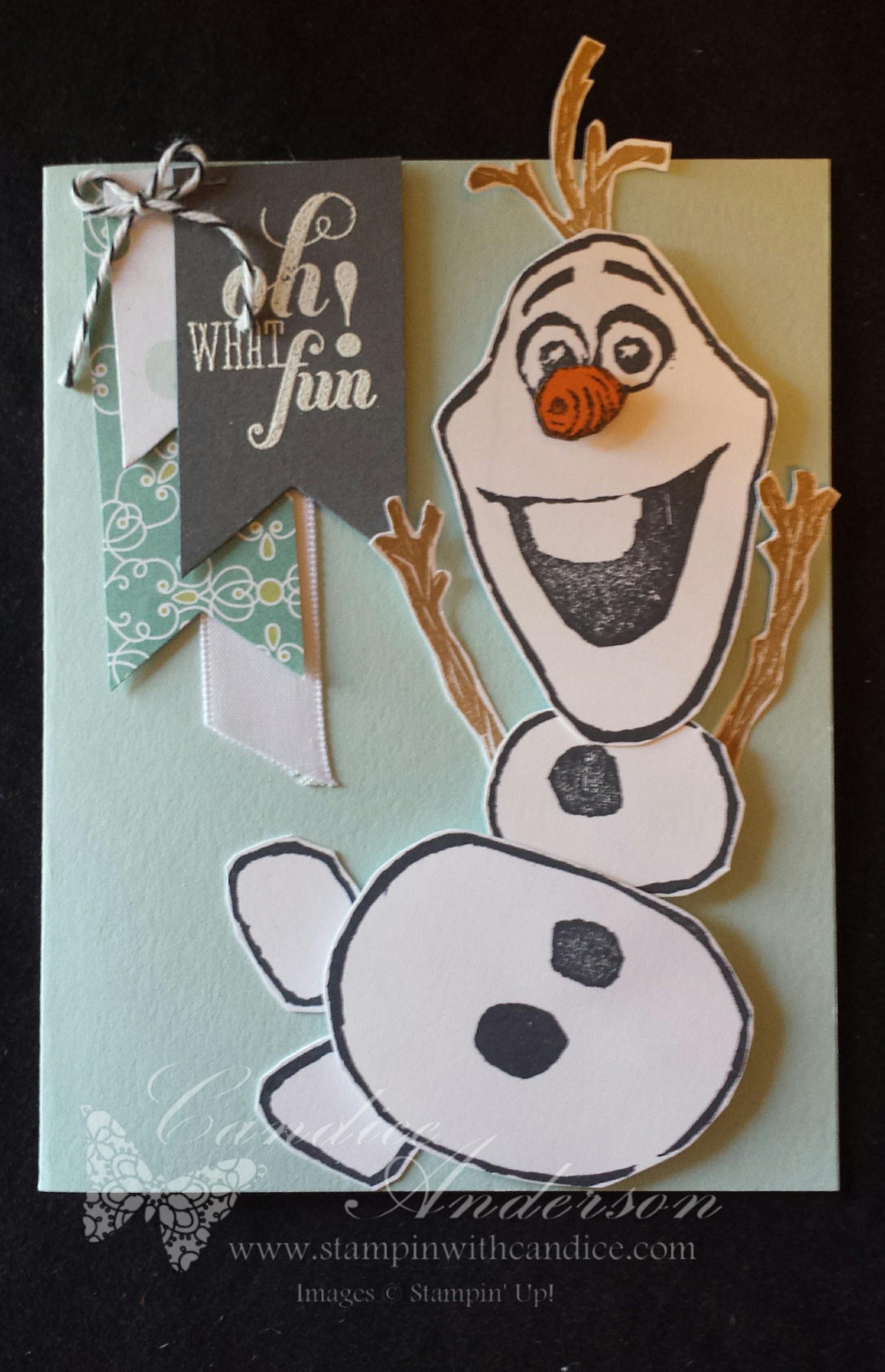 Oh What Fun Olaf Card