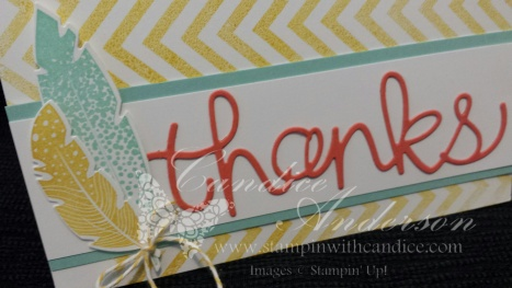 Thanks Card TGI Challenge Close Up