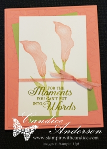 Lasting Lily SAB card for the casual stamper.