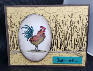 Home to Roost SAB Card by Shirley Falck