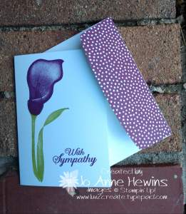 Lasting Lily Card created by Jo Anne Hewins