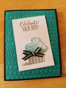 Hello Cupcake SAB card by a fellow stampin demonstrator
