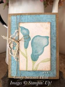 Lasting Lily Card created by Cindy Stewart-Held