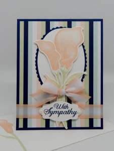 Lasting Lily Card created by another fellow demonstrator