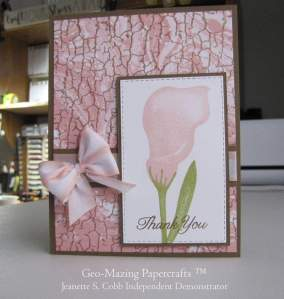Lasting Lily Card created by Jeanette Cobb