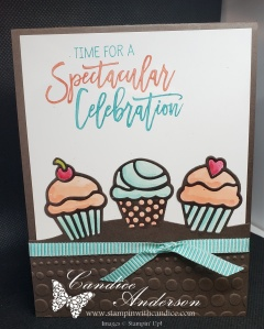 Another card featuring the Birthday Cheer Cupcakes